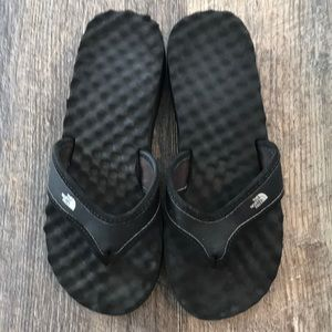 The North Face flip flops